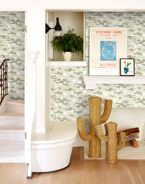 Camo Removable Wallpaper - Sand - Wallshoppe