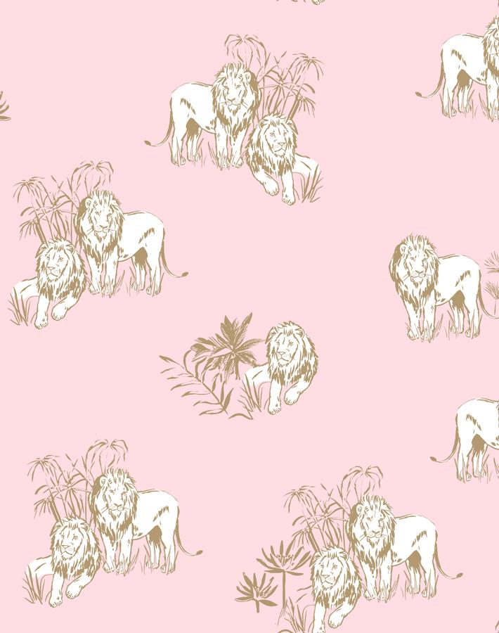 Foliage Lions Ballet Slipper  Wallpaper