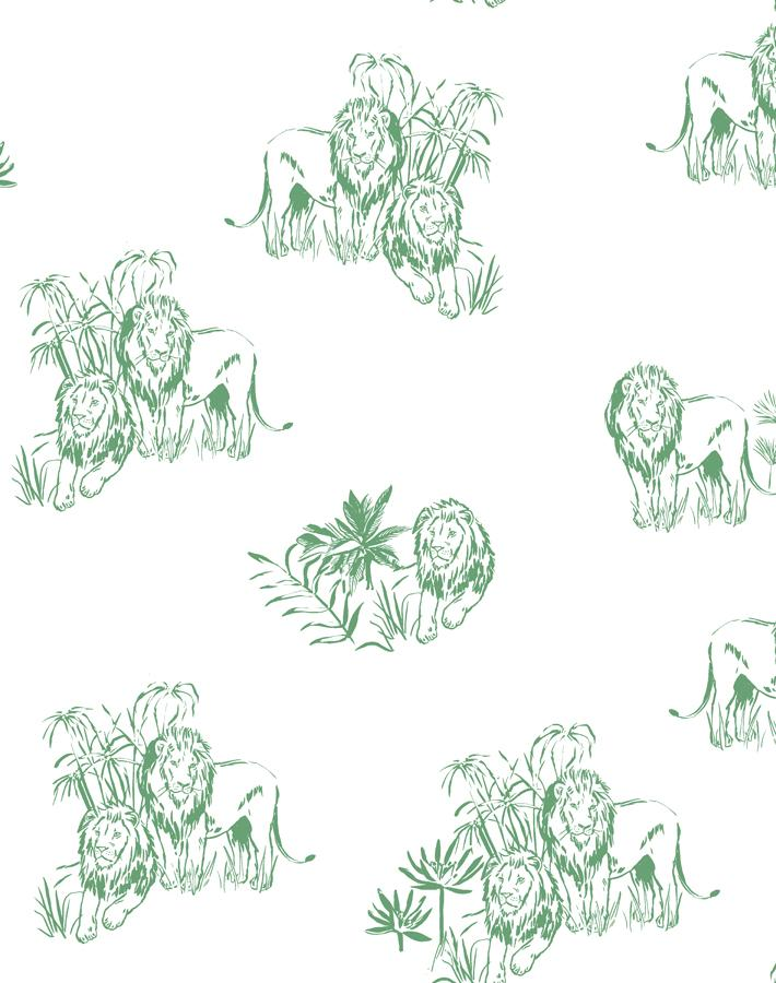 Foliage Lions Green  Wallpaper