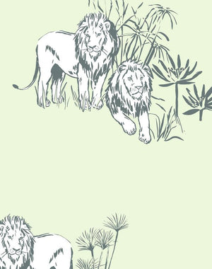 Foliage Lions Pistachio  Wallpaper