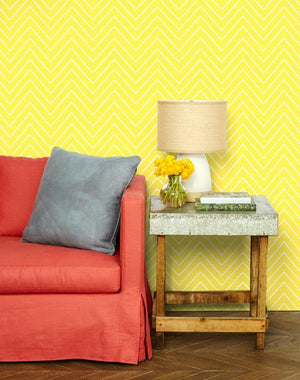 Frances Chevron Daffodil  Wallpaper