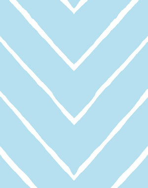 Frances Chevron Baby Blue  Wallpaper