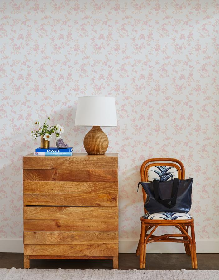 francoise floral wallpaper blush