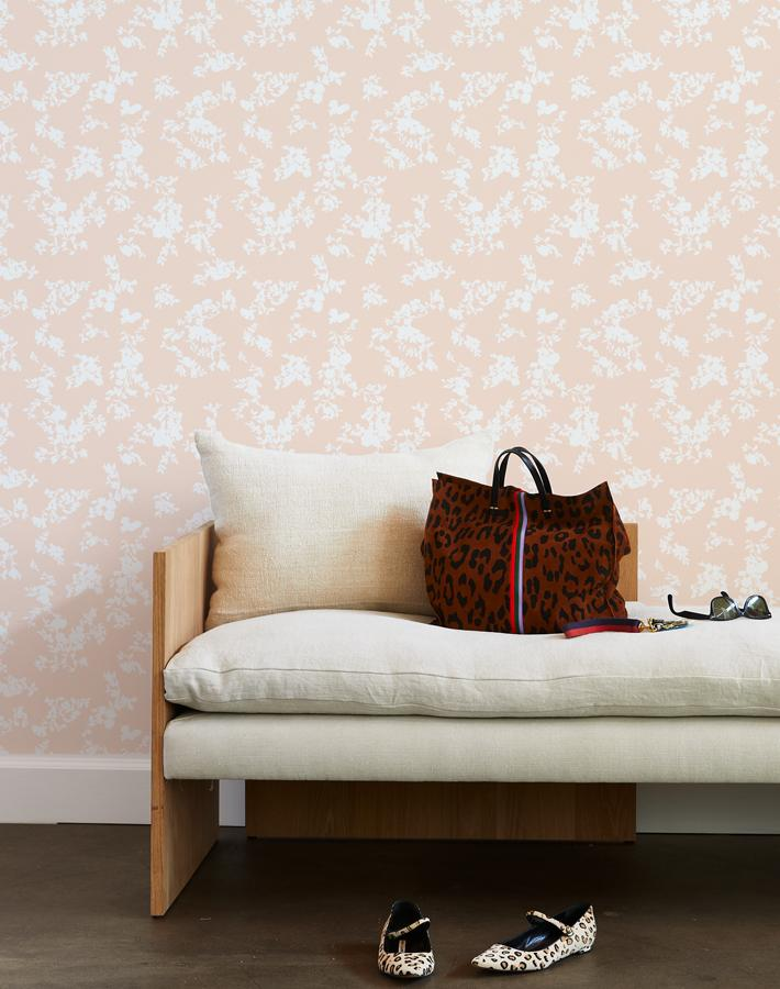 francoise floral wallpaper peach