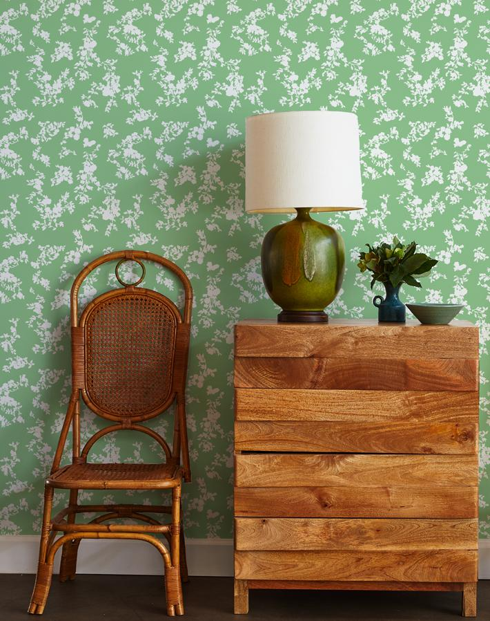 francoise floral wallpaper spring green