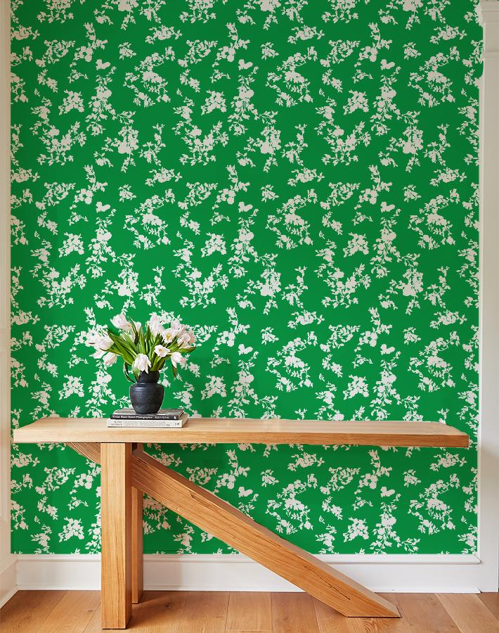 francoise floral wallpaper green