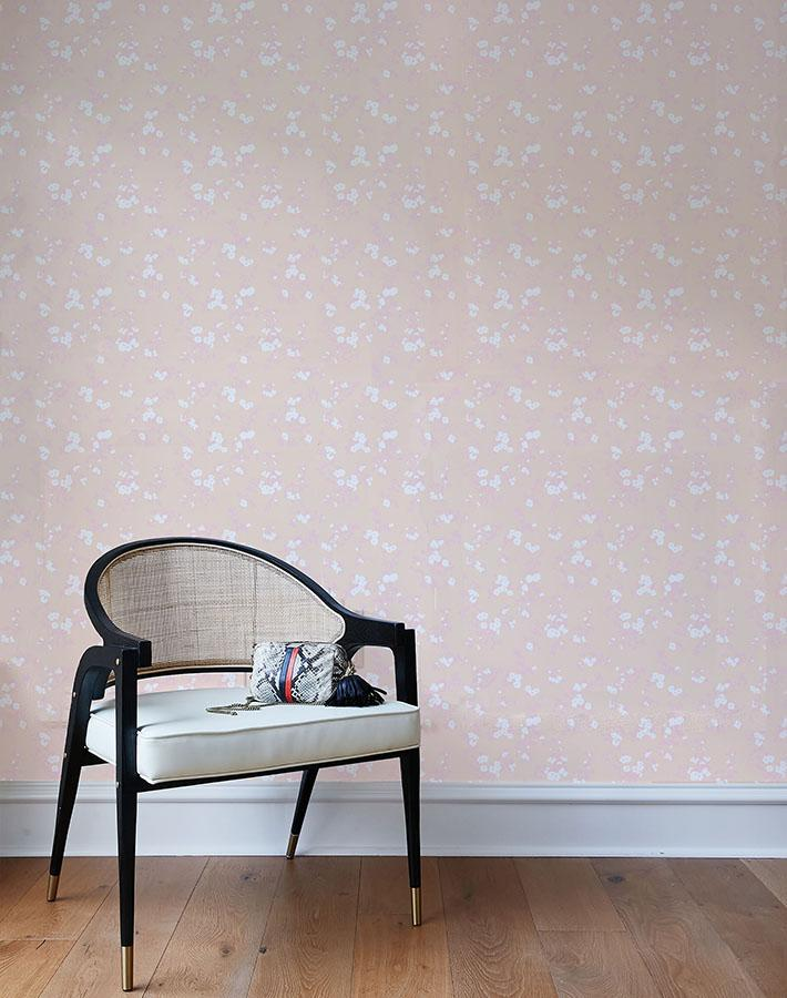 francoise floral wallpaper pink peach