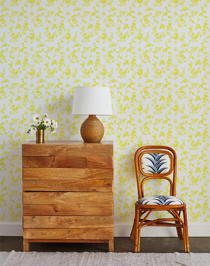 francoise floral wallpaper yellow