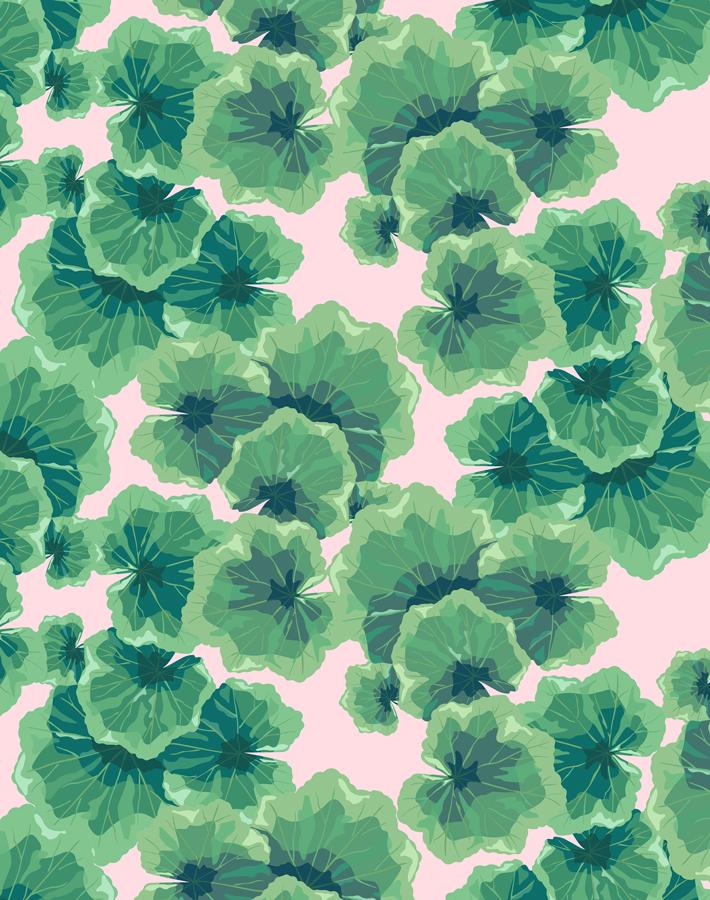 Geranium Leaves Ballet Slipper  Wallpaper