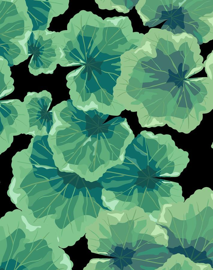 Geranium Leaves Onyx  Wallpaper