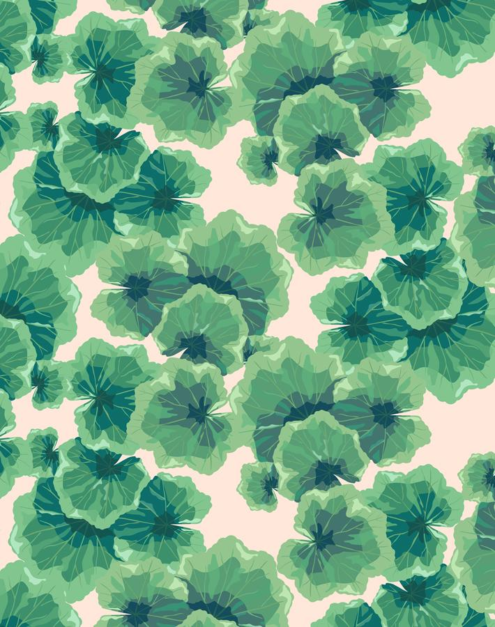 Geranium Leaves Peach  Wallpaper