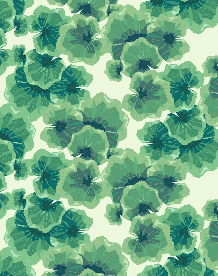 Geranium Leaves Pistachio  Wallpaper