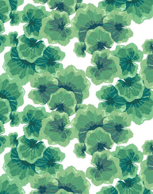 Geranium Leaves White  Wallpaper