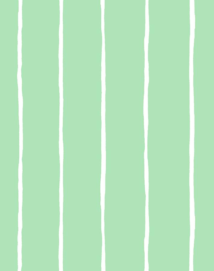 Get in Line Wallpaper - Green