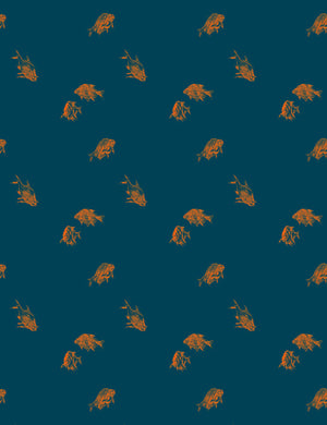 Goldfish by Nathan Turner - Indigo - Wallshoppe