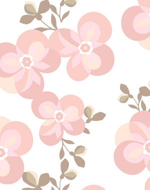 Graphic Flower Ballet Slipper  Wallpaper