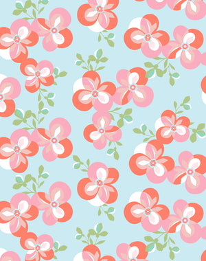 Graphic Flower Coral  Wallpaper