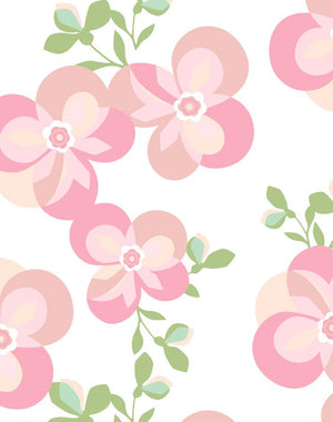 Graphic Flower Pink  Wallpaper
