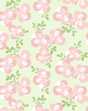 Graphic Flower Pistachio  Wallpaper