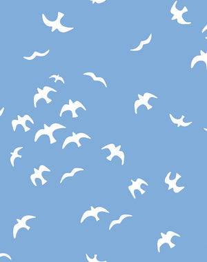 Gulls Denim Wallpaper