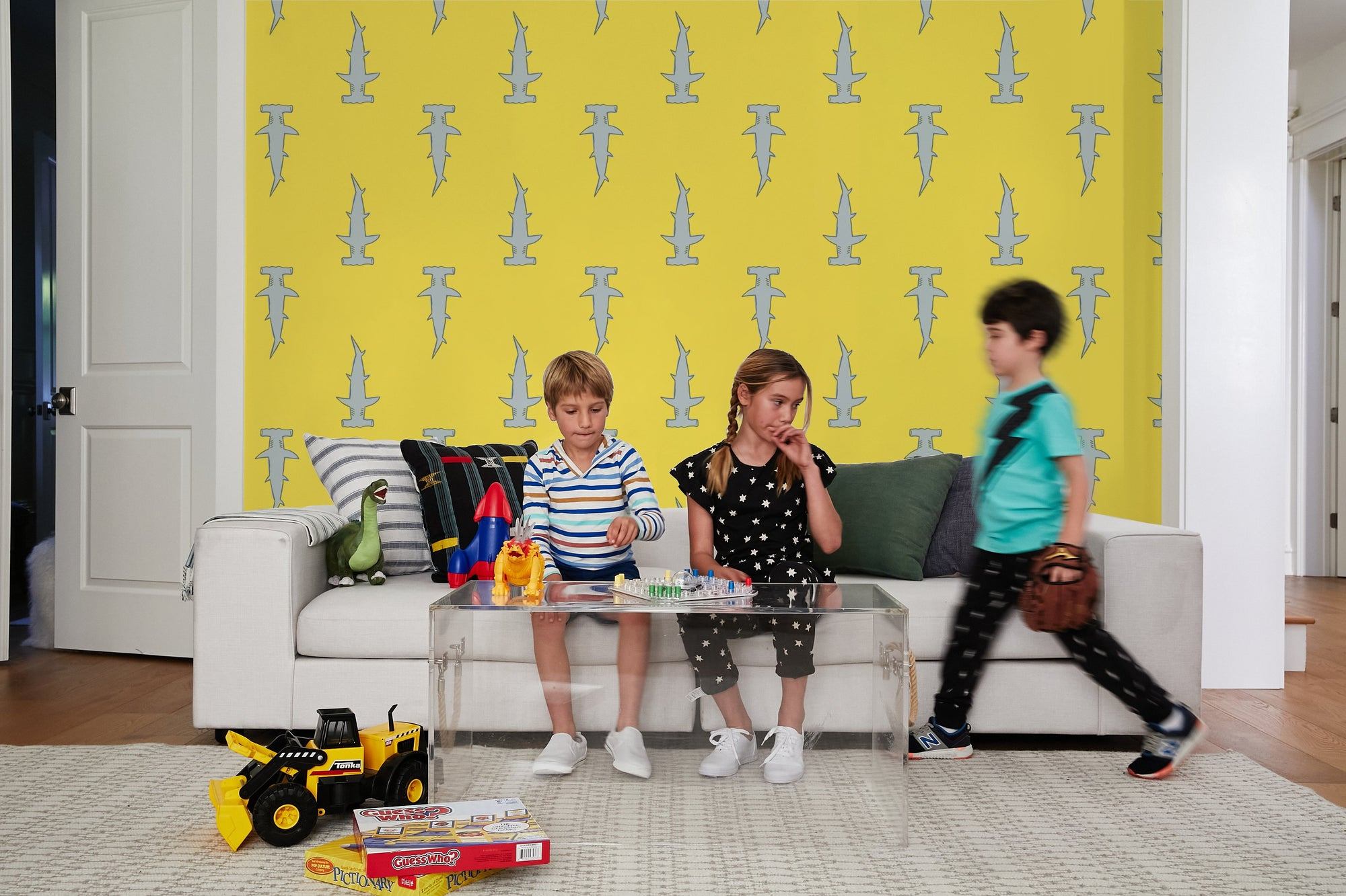 Hammerheads Yellow Wallpaper