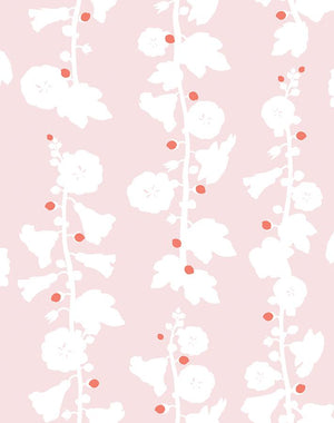 Hollyhock Pink  Wallpaper
