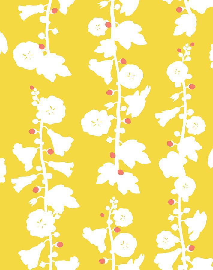 Hollyhock Yellow  Wallpaper