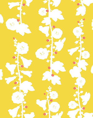 Hollyhock by Clare V. - Yellow - Wallshoppe