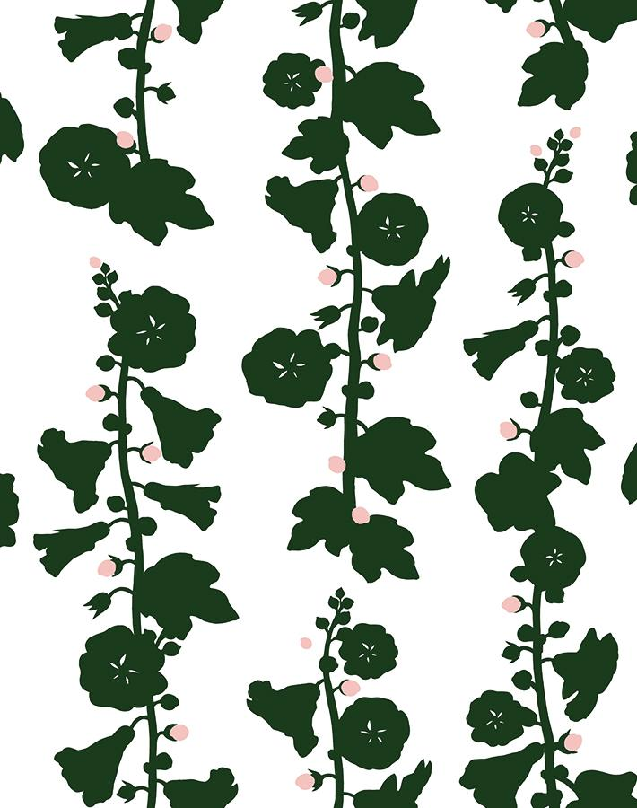 Hollyhock by Clare V. - Green - Wallshoppe