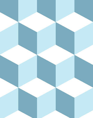 Ice Cubist Baby Blue  Wallpaper