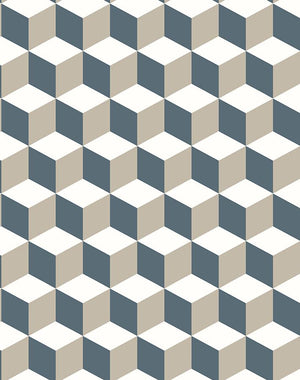 Ice Cubist Gray  Wallpaper