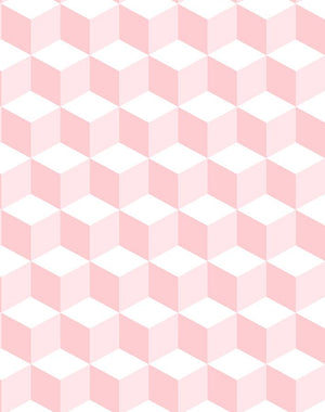 Ice Cubist Pink  Wallpaper
