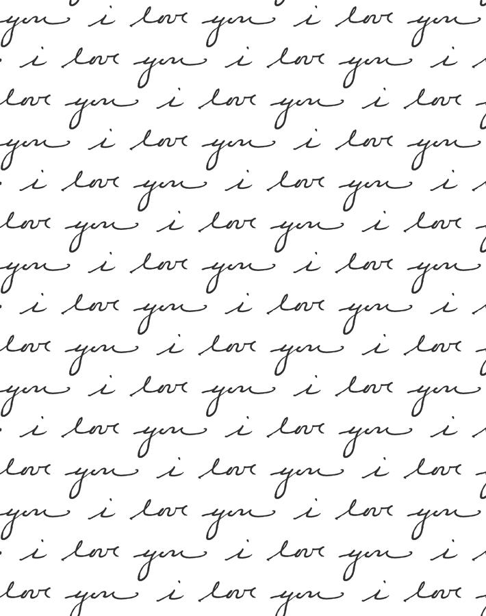 I Love You White  Wallpaper