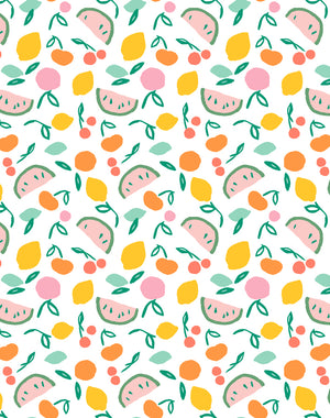 Island Fruits Melon Green Wallpaper