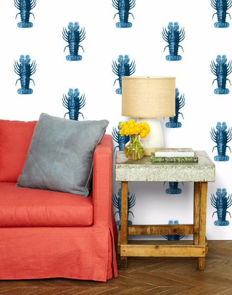 Jack the Crustacean Wallpaper - Blue - Wallshoppe