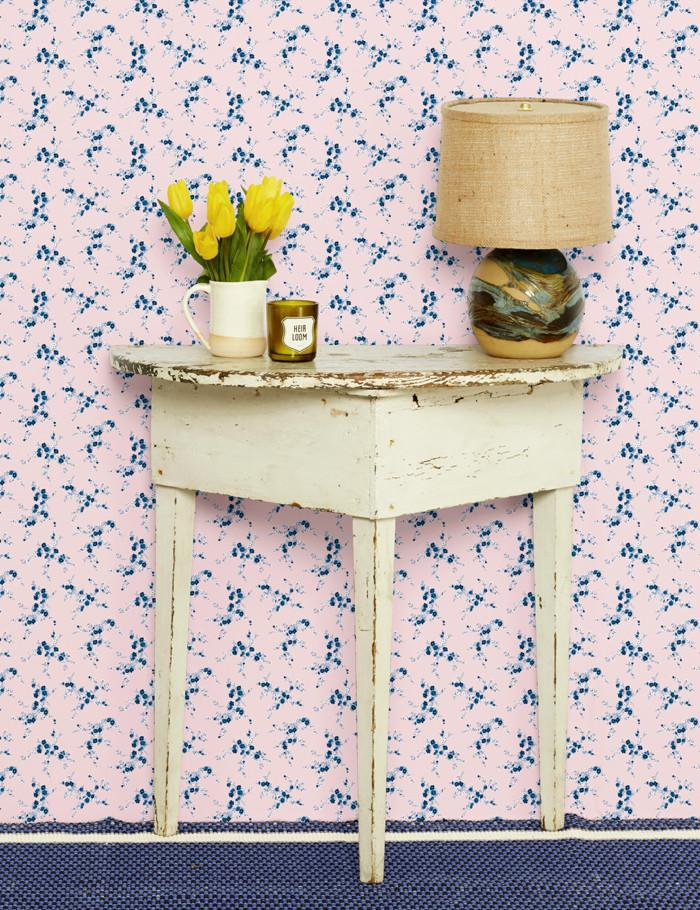 Jolene Pink With Blue  Wallpaper