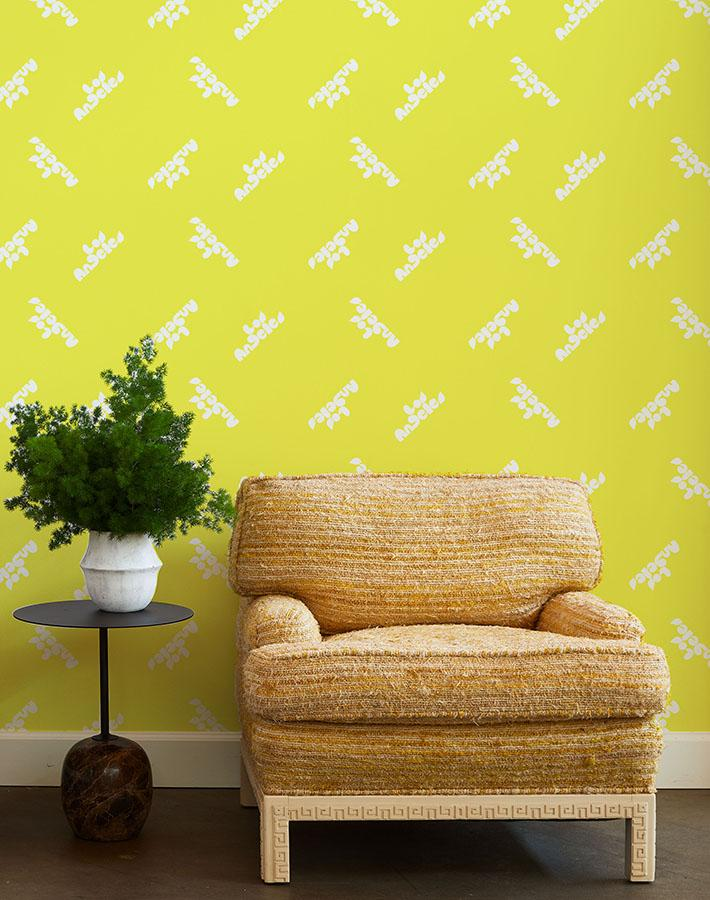 los angeles graphic wallpaper yellow