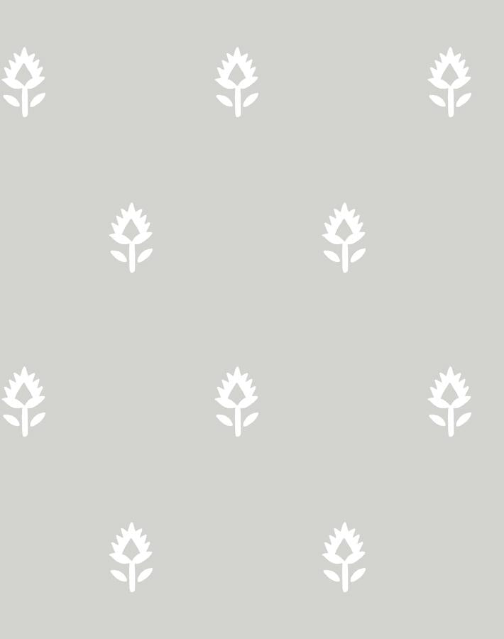 Block Print Grey  Wallpaper