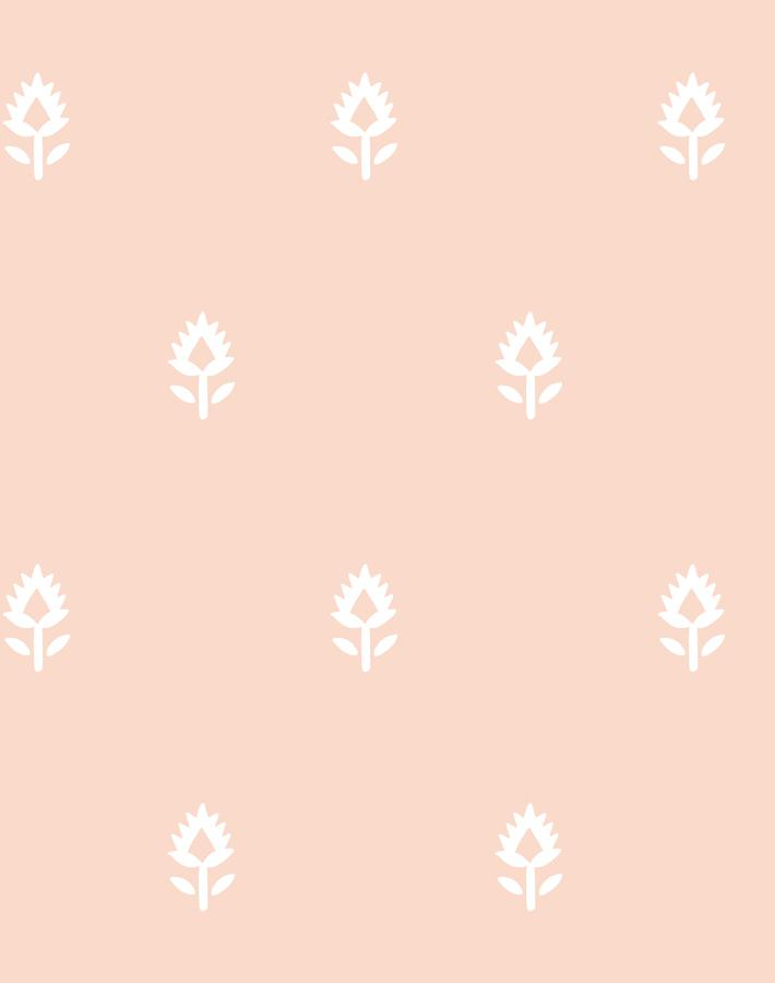 Block Print Pink  Wallpaper