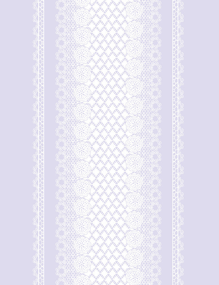Lace Front Wallpaper - Lilac