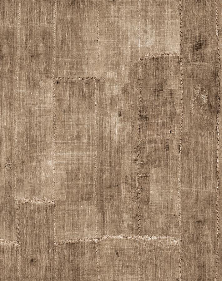 Lafayette Patchwork Brown  Wallpaper
