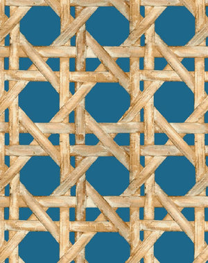 Large Caning Cadet Blue  Wallpaper