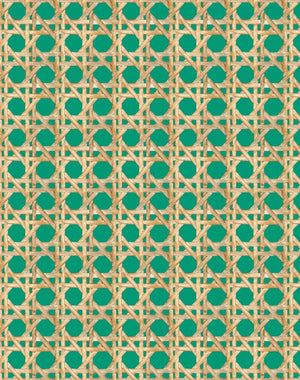 Large Caning Emerald  Wallpaper