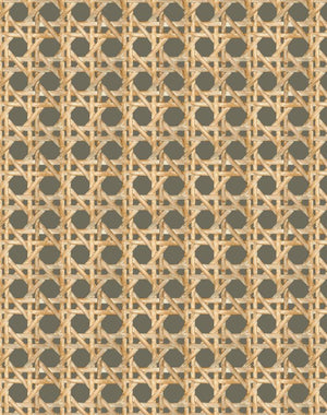 Large Caning Umber  Wallpaper