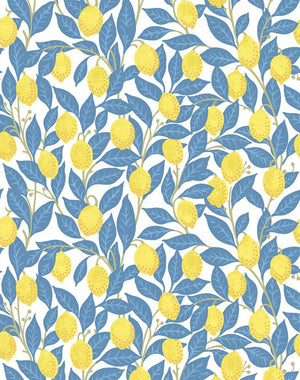 Lemons Blue  Wallpaper