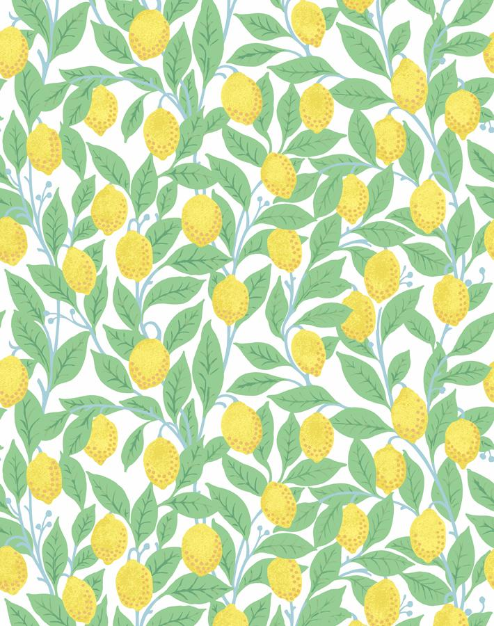 Lemons White  Wallpaper