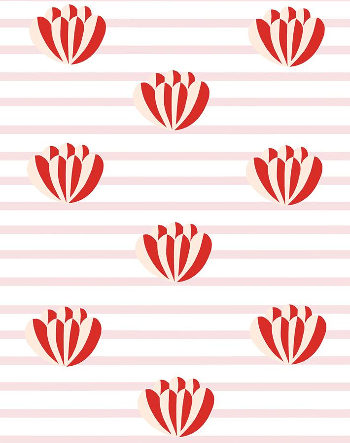 Lotus Stripe Pink  Wallpaper
