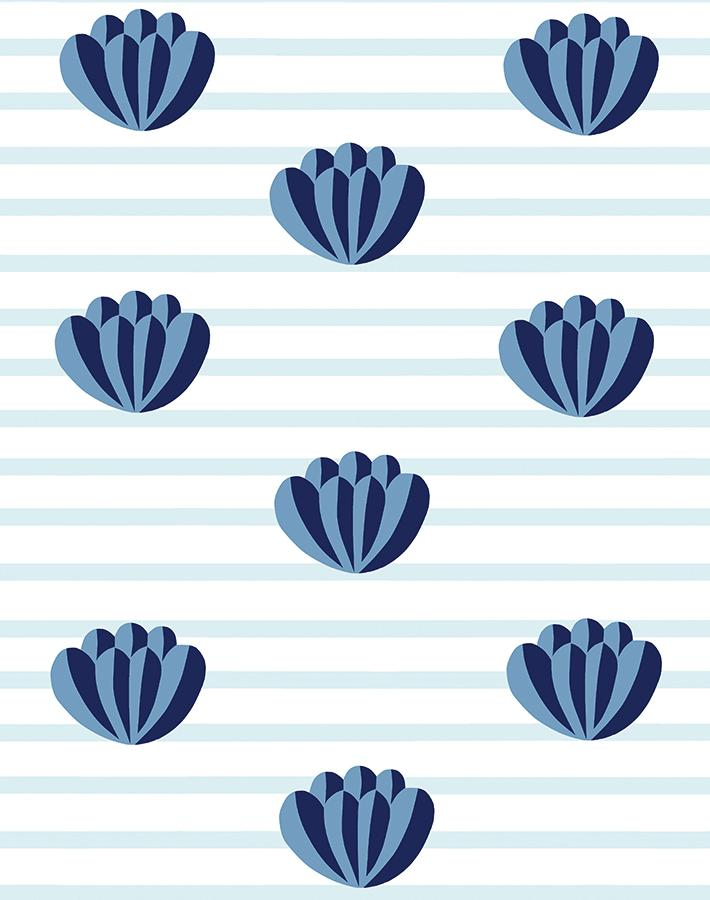 Lotus Stripe Blue  Wallpaper