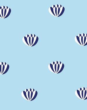 Lotus Light Blue  Wallpaper