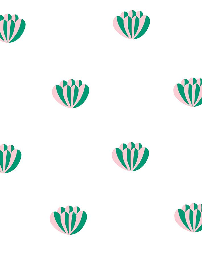 Lotus Emerald Pink  Wallpaper